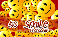 Smile Phone Card $10