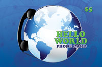 Hello World Phone Card $5